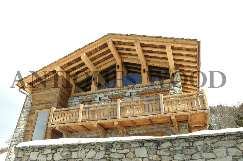 Chalet en vieux bois - Prix construction chalet bois ...
